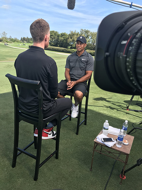 Tiger Woods sits down with us before the Masters